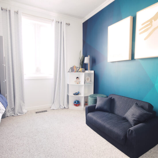Bright and playful boys bedroom